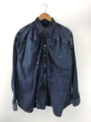 19FW/デザインシャツ/長袖シャツ/S/コットン/IDG
