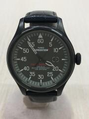 クォーツ腕時計/アナログ/BLK//  EXPEDITION