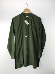 15AW/バンドカラーシャツ/I01-02003/1/コットン/カーキ/無地/中古