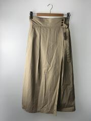 ハイウエストロングスカート/19-060-912-3050-1-0/ロングスカート/40/コットン/CRM/中古