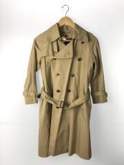 ultimatepima twill trench coat/140/コットン/ベージュ/無地/ライナー付き