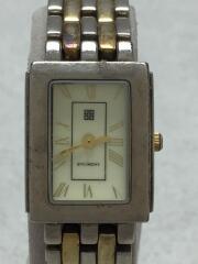 クォーツ腕時計/アナログ/ステンレス/IVO/SLV