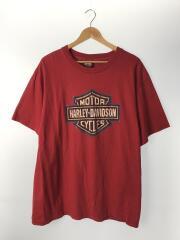 USA/Tシャツ/XL/コットン/RED/中古