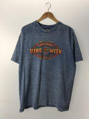 BIKE WEEK/USA/Tシャツ/L/コットン/BLU/中古