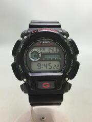 クォーツ腕時計/デジタル/ラバー/GRY/BLK