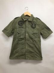 ミリタリーシャツ/半袖シャツ/FREE/コットン/KHK/2AH-0720//ミリタリーシャツ/