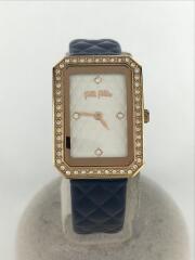 STYLE CODE/スクエアクォーツ腕時計/アナログ/エナメル/BLU