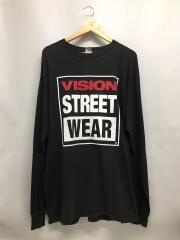 90s/USA製/両面プリント/ビッグサイズL/STシャツ/--/コットン/BLK