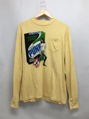 FOR PUNKS pt/長袖Tシャツ/M/コットン/YLW/02171CL05