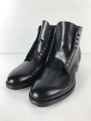 Cordovan Lace Up Boots/レースアップブーツ/US7/BLK/馬革/4562H/袋箱有