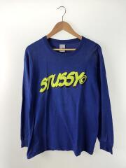 90s/madeinusa/長袖Tシャツ/L/コットン/BLU