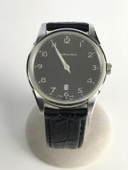 JazzmasterThinline42/クォーツ腕時計/アナログ/レザー/BLK/H385111
