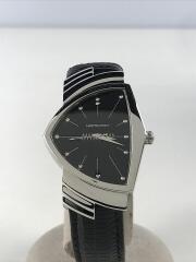 VENTURA/ベンチュラ/クォーツ腕時計/アナログ/BLK/BLK/箱付属/H244112