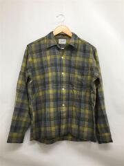 60s/ループカラー/ボックス/SandyMacDonald/ネルシャツ/M/ウール/YLW/チェック