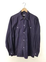 オープンカラーシャツンカラーシャツ/2/コットン/BLU/N03-02004/18AW