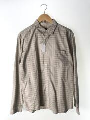 長袖シャツ/M/コットン/GRY/チェック/54845F8