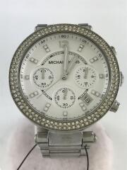 クォーツ腕時計/アナログ/ステンレス/WHT/SLV/MK-5353/全体スレ有