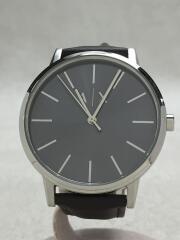 クォーツ腕時計/アナログ/レザー/SLV