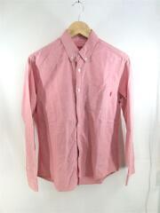 Oxford Shirt/S/コットン/レッド/オックスフォードシャツ/ボタンダウン/