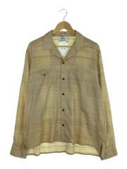 16SS/Cave Shirt/長袖シャツ/3/シルク/BRW