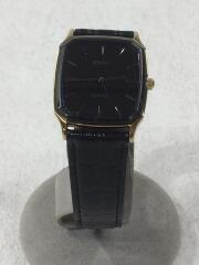 腕時計/アナログ/--/BLK/BLK/別注レクタングル3針ウォッチ