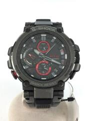 ソーラー腕時計/アナログ/ラバー/BLK/BLK/5544/MT-G