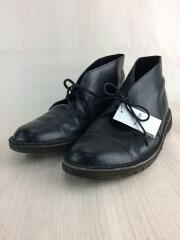 デザートブーツ/ブーツ/US8.5/BLK/レザー