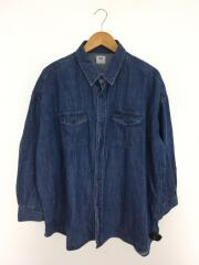 ビッグウエスタンシャツ/長袖シャツ/FREE/コットン/NVY/TYZ1001204A0002