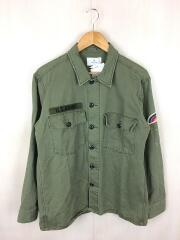 ピーチツイルミリタリーシャツ/LA84-13S001/長袖シャツ/L/コットン/KHK