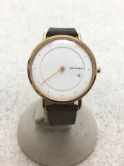 HORISONT/SKW2739/クォーツ腕時計/アナログ/レザー