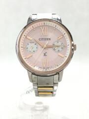 XC/クロシシー/クォーツ腕時計/アナログ/ステンレス/PNK/FD1094-53W