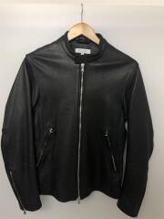 シングルライダースジャケット/M/羊革/ブラック/1225-199-7631