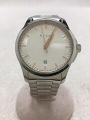 クォーツ腕時計/アナログ/ステンレス/SLV/126.4/デイト