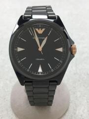 クォーツ腕時計/アナログ/セラミック/BLK/BLK/NICOLA/ニコラ/AR-70003