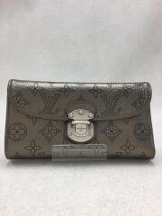 ポルトフォイユアメリア_モノグラムマヒナ/レザー/SLV/M95716/三つ折り財布