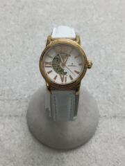 OR-0048N/ORAKLASICA/手巻腕時計/アナログ/レザー/WHT