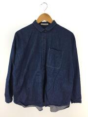 デニムオーバーサイズシャツ/B0104AFB004/長袖シャツ/38/コットン/IDG