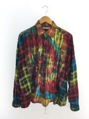 nnel Shirt Ribbon Wide Shirt/Tie Dye/HM307/長袖シャツ/コットン