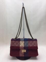 Plaid Multicolor Wool Body bag/キルティング/ショルダーバッグ/ウール