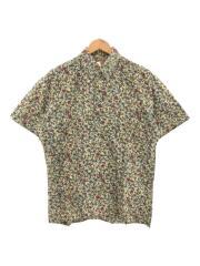 半袖シャツ/花柄プルオーバーシャツ/S/コットン