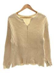 セーター(薄手)/ビッグワッフルキーネックプルオーバー/63-14-0200-101/FREE/アイボリー