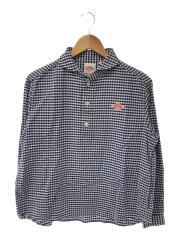 ラウンドカラープルオーバーシャツ/JD3564/36/コットン/ブルー/ギンガムチェック