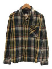 チェックネルシャツ/M/コットン/ブルー/STY52240FA14