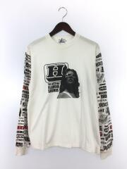 HI FI WOMAN pt/長袖Tシャツ/S/コットン/WHT/総柄/02191CL02