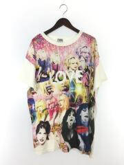COURTNEY LOVE/LOVE DISCO pt/Tシャツ/FREE/コットン/WHT/総柄/01192CT0