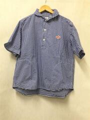 半袖シャツ/40/コットン/BLU/チェック