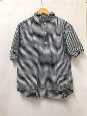 半袖シャツ/40/コットン/BLK/チェック