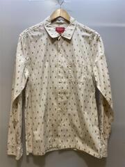 13SS/Oval Dot Shirt/M/コットン/BEG/ドット