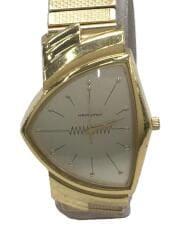 クォーツ腕時計/アナログ/WHT/GLD