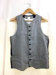 Violin Vest/ジレベスト/S/リネン/千鳥格子